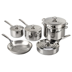 Le Creuset Tri-Ply Stainless Steel 10 Piece Cookware Set
