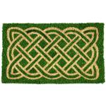 Entryways Celtic Handwoven Coconut Fiber Coir 18 x 30 Inch Doormat