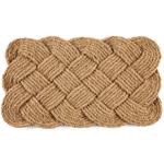 Entryways Knot-ical Handwoven Coconut Fiber Coir 18 x 30 Inch Doormat