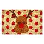Entryways Rudolph Handwoven Coconut Fiber Coir 18 x 30 Inch Doormat