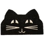 Entryways Cat Face Non-Slip Handwoven Coconut Fiber Coir 17 x 28 Inch Doormat