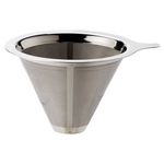 HIC Harold Import Co Pour-Over Stainless Steel 4 Cup Coffee Filter Cone
