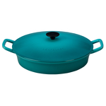 Le Creuset Caribbean Enameled Cast Iron Covered 3.75 Quart Fait Tout Bistro Pan