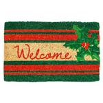 Entryways Holly Hand-Woven Coir Welcome Mat