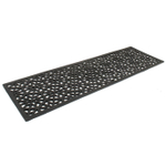Entryways Recycled Rubber Hexagons Welcome Mat