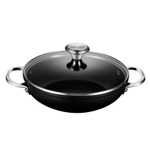 Le Creuset Toughened Steel 2.5 Quart Shallow Braiser with Glass Lid