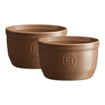 Emile Henry Oak Ceramic 8.5 Ounce #10 Ramekin, Set of 2