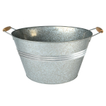 Artland Oasis Galvanized Metal 22.5 Inch Oval Beverage Party Tub