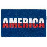 Entryways Handwoven Coconut Fiber 18 x 30 Inch America Doormat