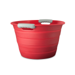Final Touch Red Silicone 12.7 Quart Collapsible Beverage Bin