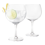 Final Touch Crystal Gin Glass, Set of 2