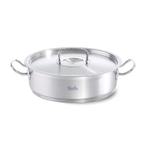 Fissler Original Profi 18/10 Stainless Steel 5 Quart Saute Pan with Lid and Helper Handles