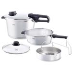 Fissler Vitavit Large 6 Piece 8.5 Quart and 4.2 Quart Premium Pressure Cooker Set