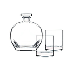 Luigi Bormioli Classico 3 Piece Whiskey Glass and Decanter Set