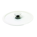 Berndes Glass 8.5 Inch Cookware Lid with White Silicone Rim