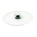 Berndes Glass 6 Inch Cookware Lid with White Silicone Rim