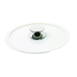 Berndes Glass 10 Inch Cookware Lid with White Silicone Rim