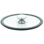 Berndes Glass 8.5 Inch Cookware Lid with Black Silicone Rim