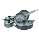 Moneta Greystone 8 Piece Non-Stick Cookware Set