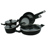 Moneta Nova 8 Piece Black Non-Stick Cookware Set