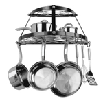 Range Kleen Black Enamel 22 Piece Double Shelf Pot Rack