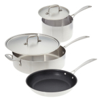 American Kitchen Make Enough for Leftovers Stainless Steel 5 Piece Cookware Set