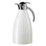 Oggi Allegra White Press-to-Pour 2 Liter Carafe with Stainless Steel Liner