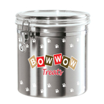 Oggi Stainless Steel Bow Wow 1.17 Gallon Treat Jar