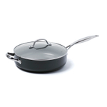 GreenPan Valencia Pro Ceramic 4.5 Quart Covered Saute Pan with Helper Handle