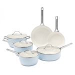 GreenPan Padova Light Blue Nonstick 10 Piece Cookware Set