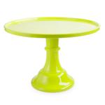 Cakewalk Green Melamine 11.5 Inch Round Single Tier Cake Stand