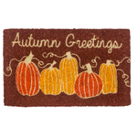 Entryways Autumn Greetings Handwoven Coconut Fiber Doormat