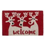 Entryways Reindeer Welcome Non-Slip Coir Doormat
