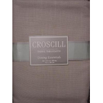 "Croscill Taupe Fabric 104"" Oblong Table Cloth"