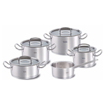 Fissler Original-Profi Collection Stainless Steel 9 Piece Cookware Set with Glass Lids