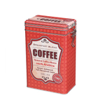 Zassenhaus Red Coffee Storage Tin with Silicone Seal