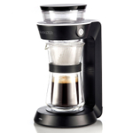 Cilio Black Pour-Over Drip Master Coffee Station with Double Walled Carafe