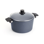 Woll Diamond Lite Gray Non-Stick Scratch Resistant 11 Inch Stockpot with Lid