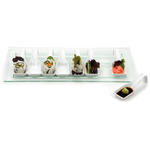RSVP White Porcelain and Glass Appetizer Set
