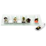 RSVP White Porcelain and Glass Appetizer Set