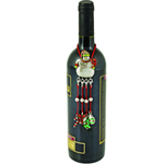 True Fabrications Pewter Snowman Wine Bottle Necklace with Charms