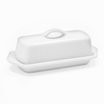 Chantal Glossy White Stoneware 8.5 Inch Butter Dish
