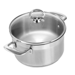 Chantal Induction 21 Steel 2 Quart Soup Pot with Glass Lid