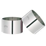 Kuchenprofi Stainless Steel 3 Inch Prep/Plating/Forming Ring, Set of 4