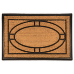 Entryways Ellipse 18x30 Inch Recycled Rubber & Coir Doormat