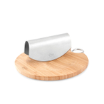 Rosle Bamboo Chopping Board with Stainless Steel Mezzaluna Chopper