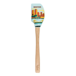 Tovolo Spatulart Limited Edition Tour Boston Spatula with Wooden Handle