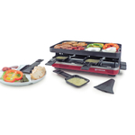 Swissmar Red Stainless Steel and Nonstick Cast Aluminum 8 Person Valais Raclette