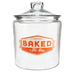 "Anchor Hocking Fire-King 1 Gallon Heritage Hill ""Baked by Fire-King"" Jar"