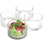 Artland Simplicity Glass Cylinder Nappy Bowl, Set of 4